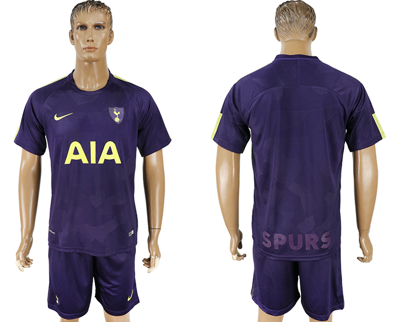 Men 2017-2018 club Tottenham Hotspur away blue soccer jersey