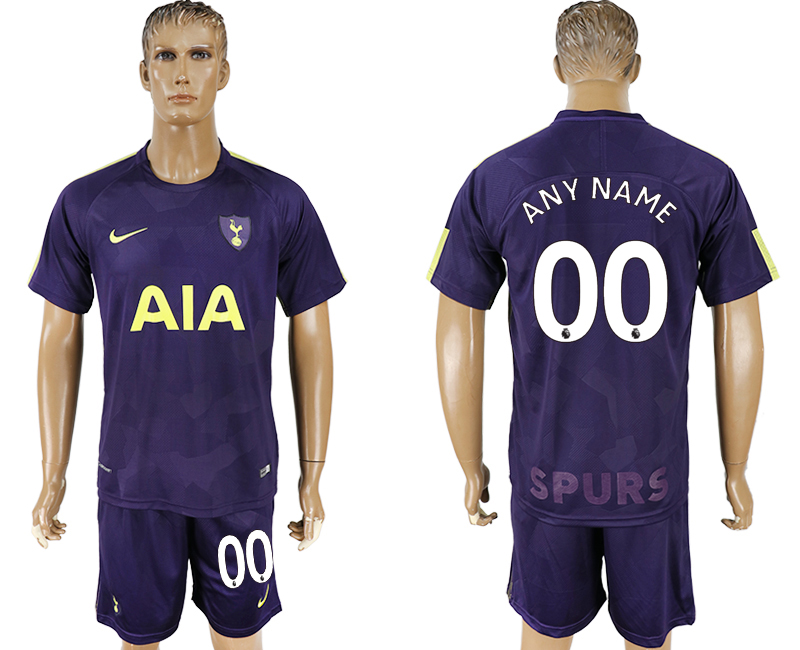 Men 2017-2018 club Tottenham Hotspur away customized blue soccer jersey