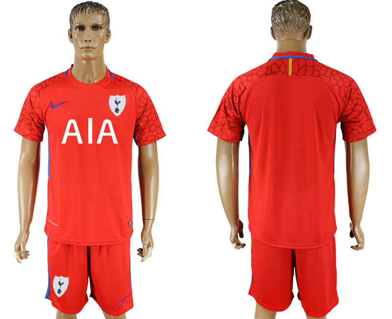 Men 2017-2018 club Tottenham Hotspur red goalkeeper soccer jersey