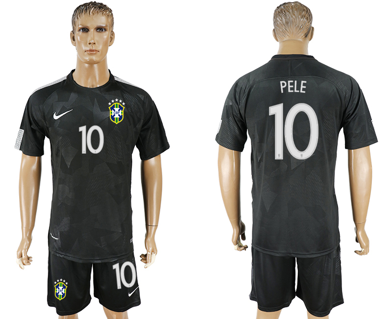 Men 2018 World Cup Brazil black 10 soccer jersey2