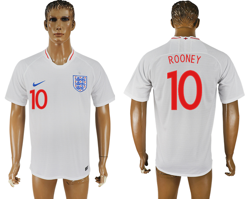 Men 2018 World Cup England home aaa version 10 white soccer jersey