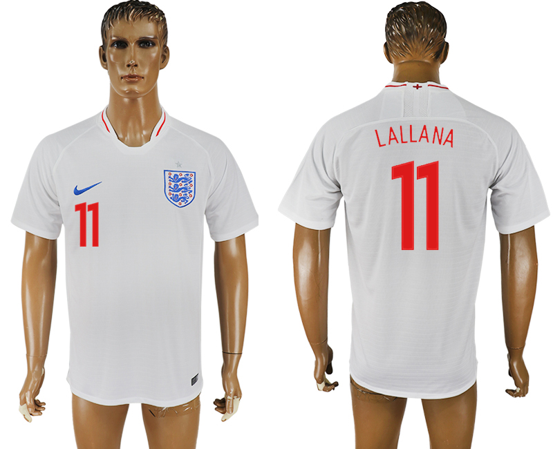 Men 2018 World Cup England home aaa version 11 white soccer jersey