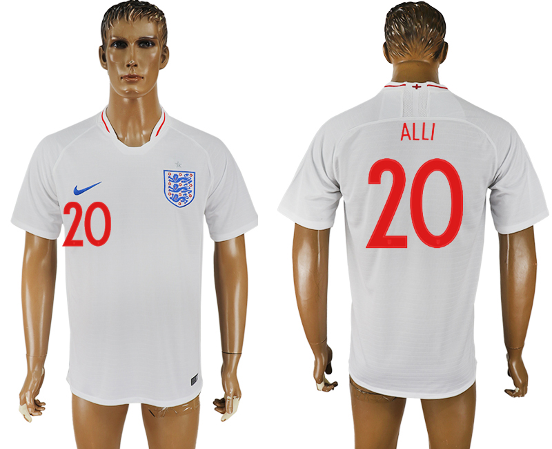 Men 2018 World Cup England home aaa version 20 white soccer jersey