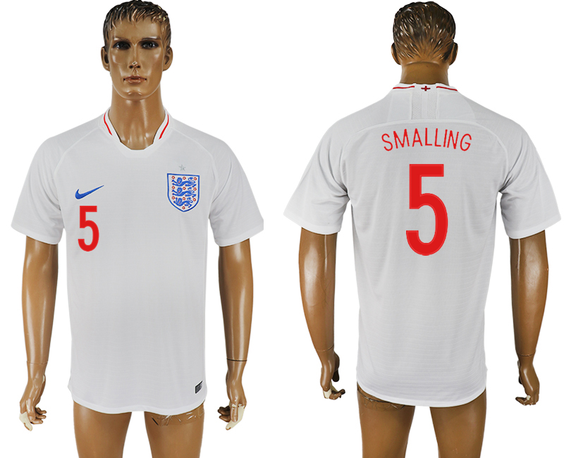 Men 2018 World Cup England home aaa version 5 white soccer jersey