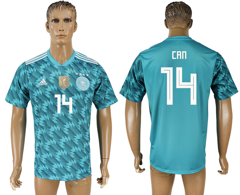 Men 2018 World Cup Germany away aaa version 14 light blue soccer jersey
