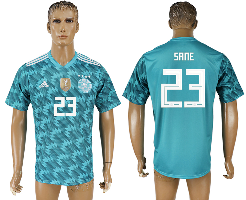 Men 2018 World Cup Germany away aaa version 23 light blue soccer jersey