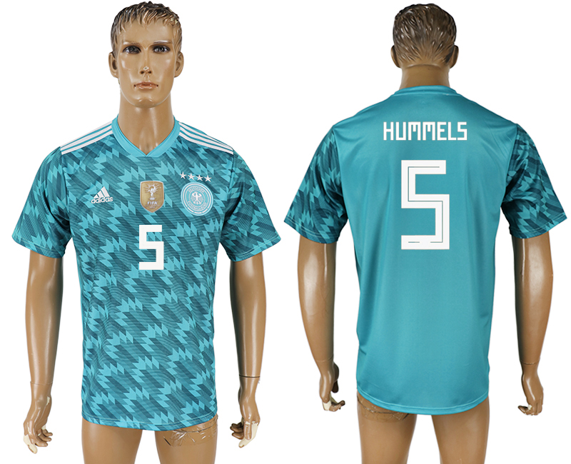 Men 2018 World Cup Germany away aaa version 5 light blue soccer jersey