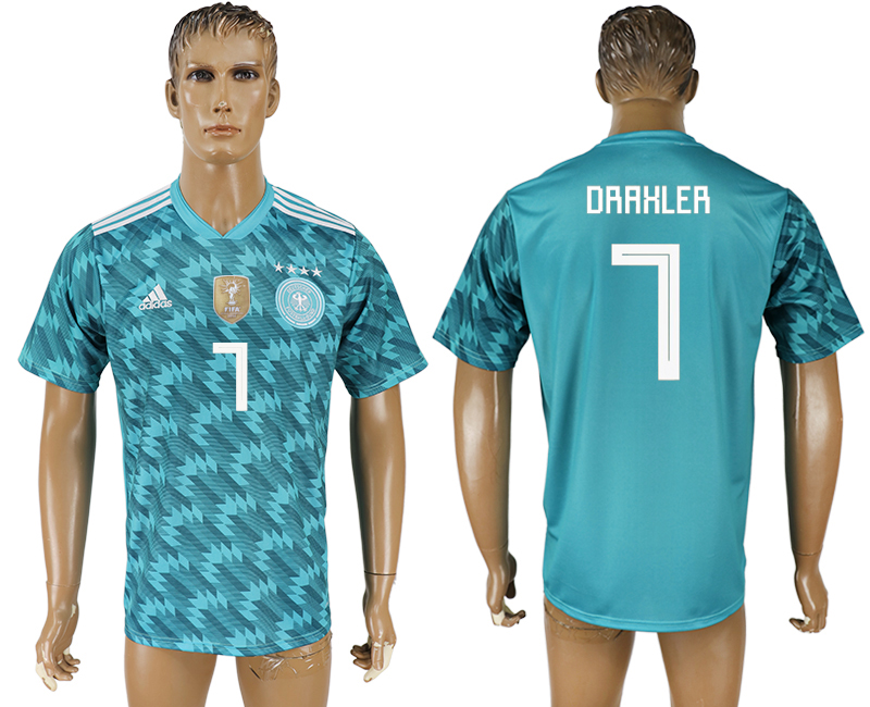 Men 2018 World Cup Germany away aaa version 7 light blue soccer jersey