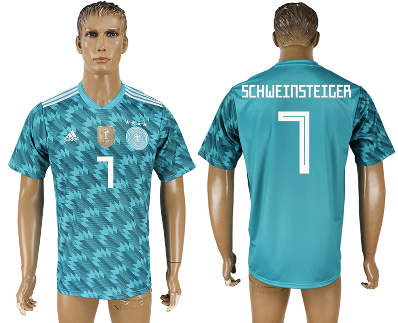 Men 2018 World Cup Germany away aaa version 7 light blue soccer jersey1