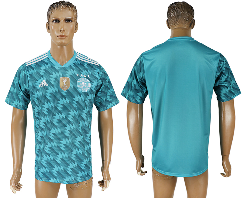 Men 2018 World Cup Germany away aaa version light blue soccer jersey