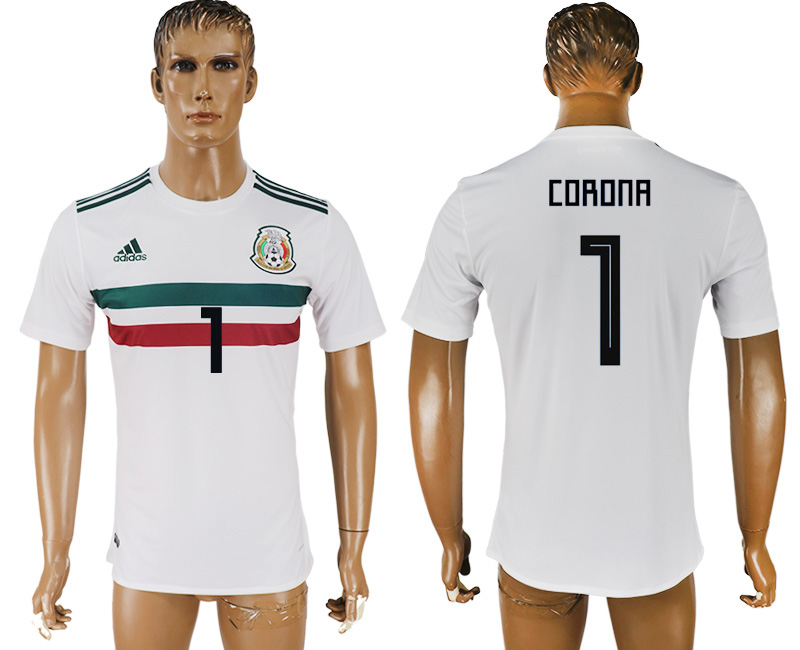 Men 2018 World Cup Mexico away aaa version 1 white soccer jersey