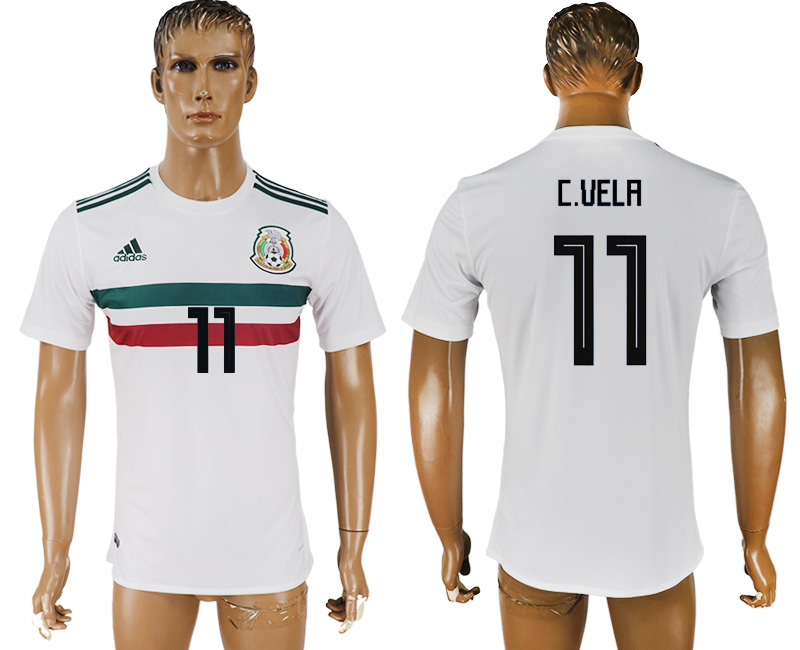 Men 2018 World Cup Mexico away aaa version 11 white soccer jersey
