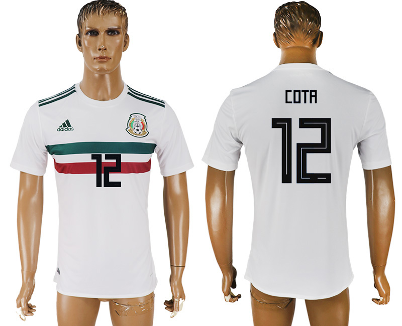Men 2018 World Cup Mexico away aaa version 12 white soccer jersey