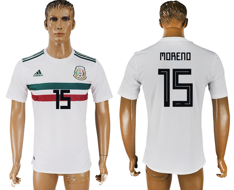Men 2018 World Cup Mexico away aaa version 15 white soccer jersey