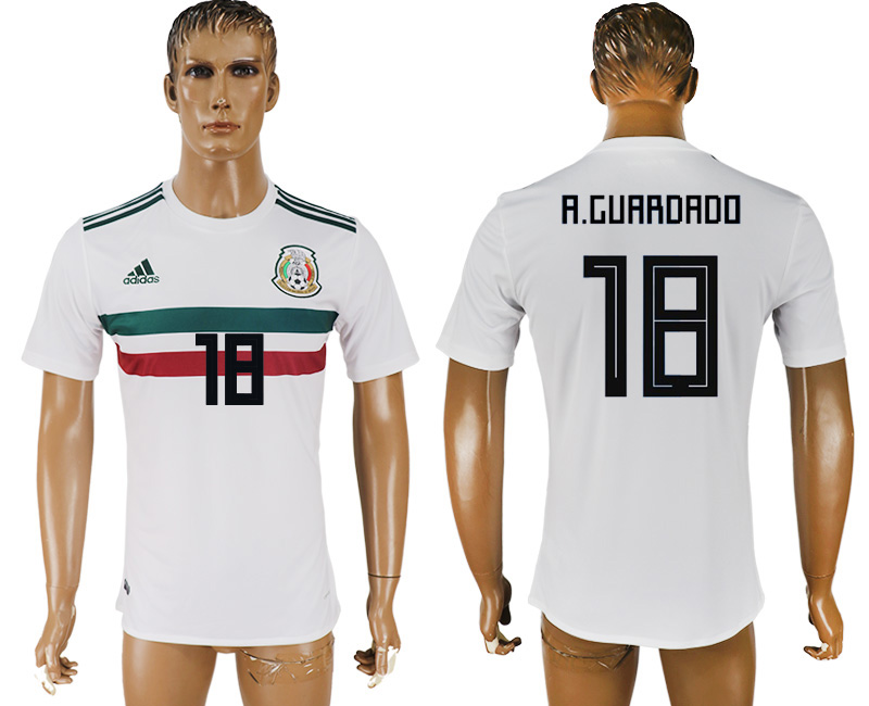 Men 2018 World Cup Mexico away aaa version 18 white soccer jersey