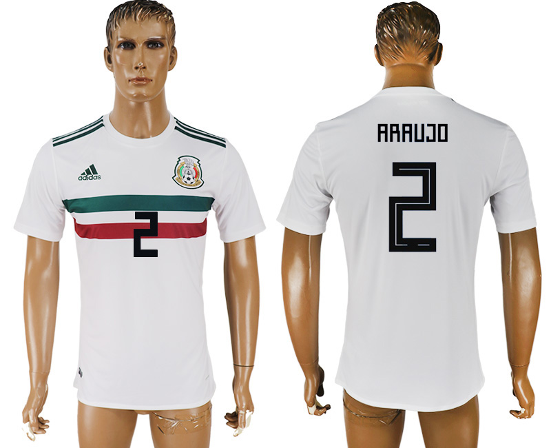 Men 2018 World Cup Mexico away aaa version 2 white soccer jersey