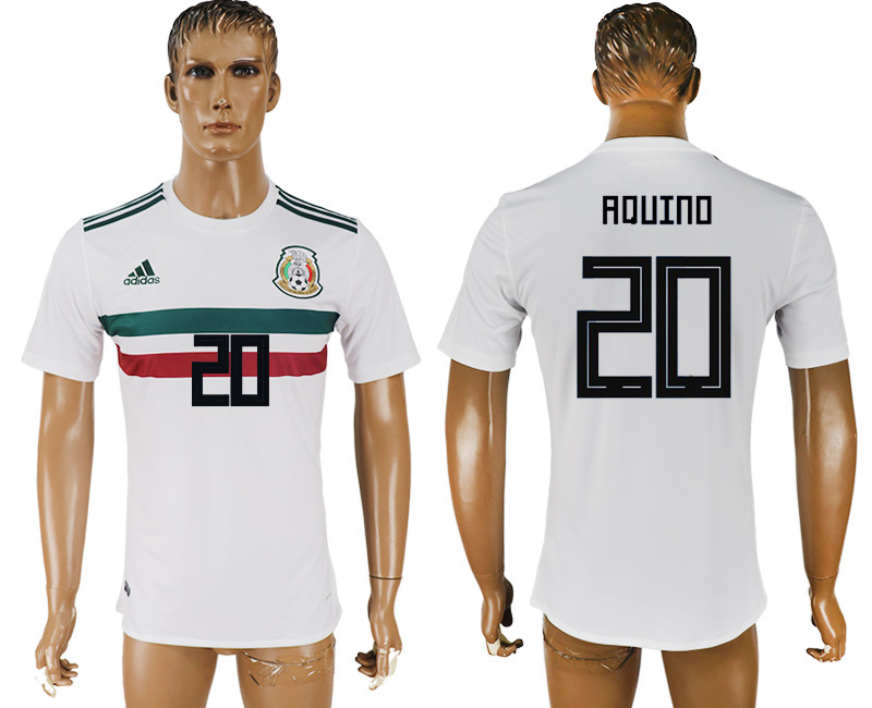 Men 2018 World Cup Mexico away aaa version 20 white soccer jersey