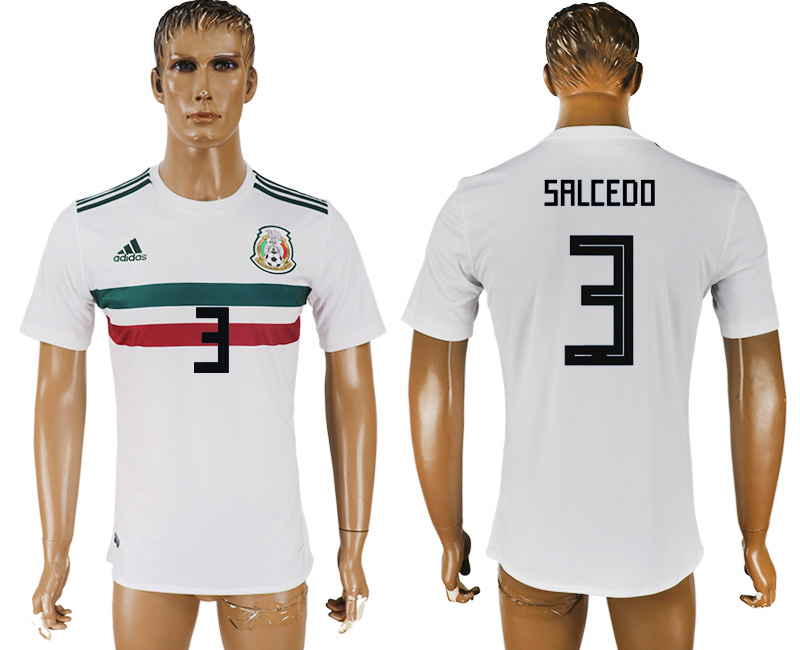 Men 2018 World Cup Mexico away aaa version 3 white soccer jersey