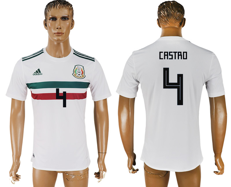 Men 2018 World Cup Mexico away aaa version 4 white soccer jersey