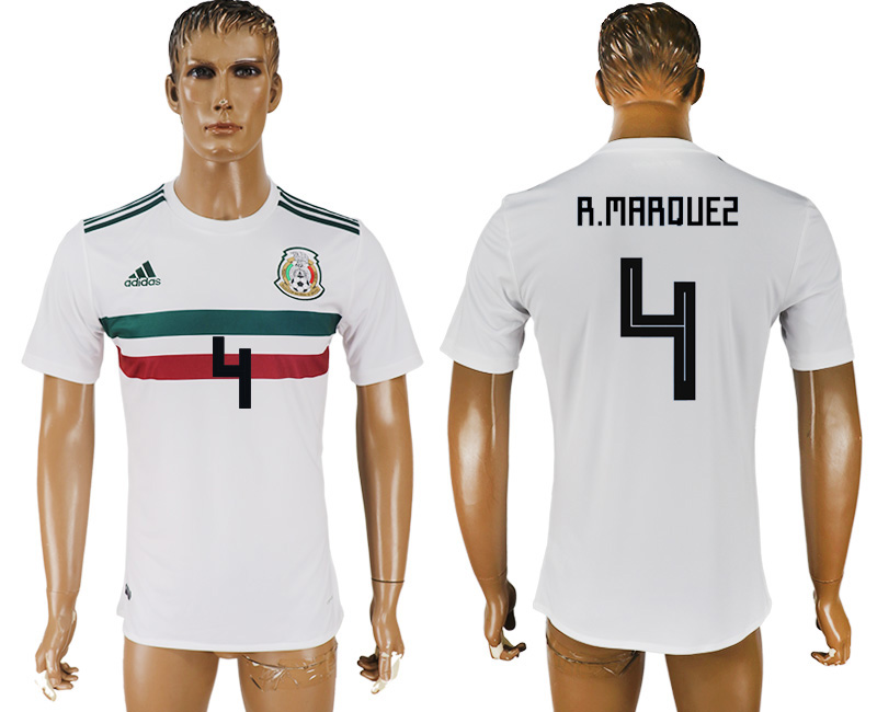 Men 2018 World Cup Mexico away aaa version 4 white soccer jersey1