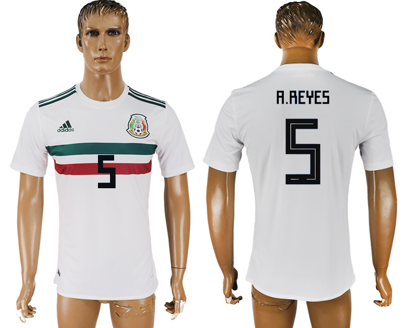 Men 2018 World Cup Mexico away aaa version 5 white soccer jersey