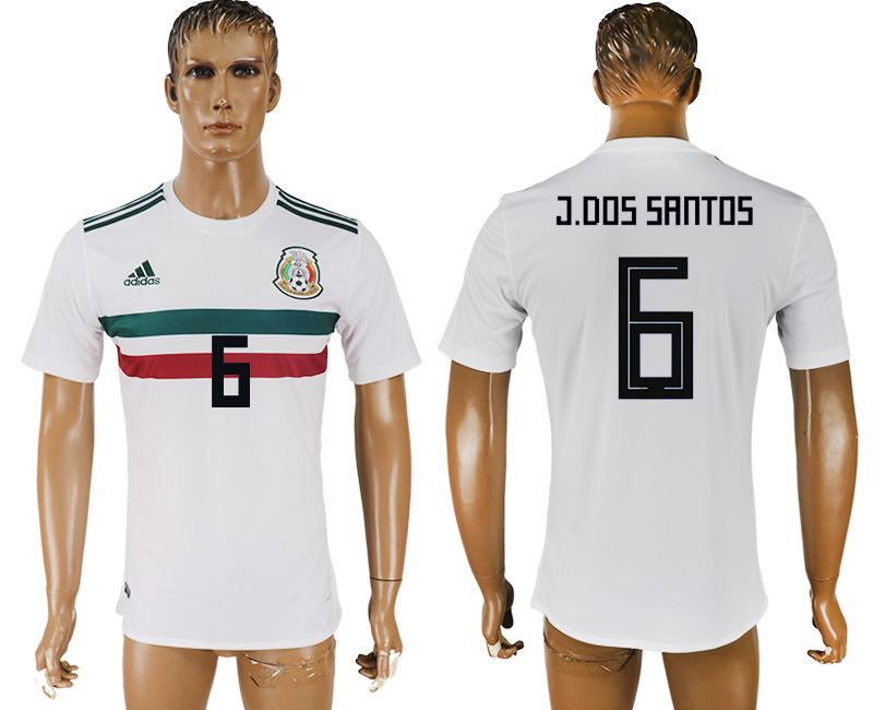 Men 2018 World Cup Mexico away aaa version 6 white soccer jersey
