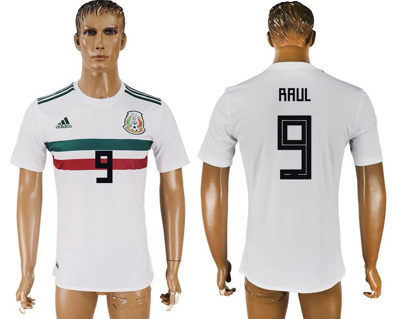 Men 2018 World Cup Mexico away aaa version 9 white soccer jersey