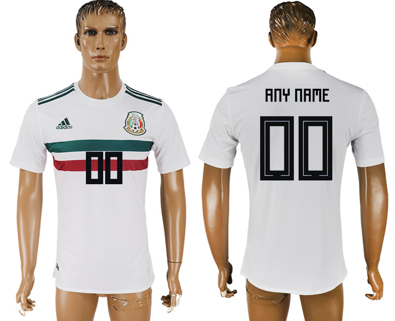 Men 2018 World Cup Mexico away aaa version customized white soccer jersey