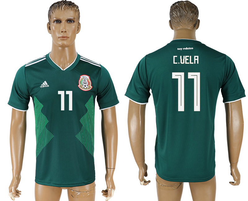 Men 2018 World Cup Mexico home aaa version 11 green soccer jersey