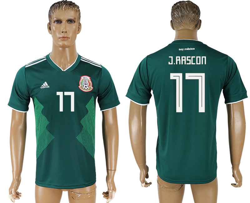 Men 2018 World Cup Mexico home aaa version 17 green soccer jersey