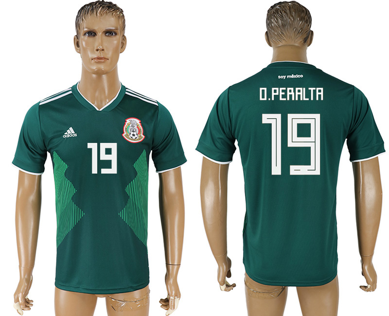 Men 2018 World Cup Mexico home aaa version 19 green soccer jersey