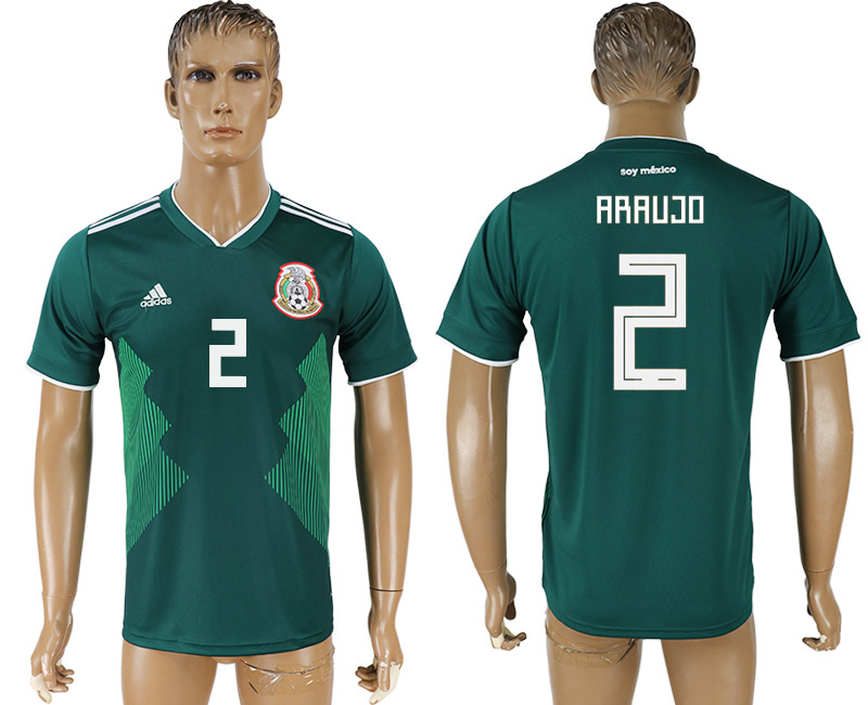 Men 2018 World Cup Mexico home aaa version 2 green soccer jersey