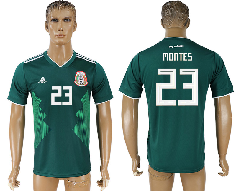 Men 2018 World Cup Mexico home aaa version 23 green soccer jersey
