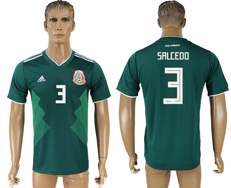 Men 2018 World Cup Mexico home aaa version 3 green soccer jersey