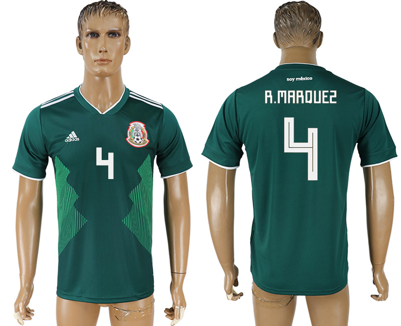 Men 2018 World Cup Mexico home aaa version 4 green soccer jersey