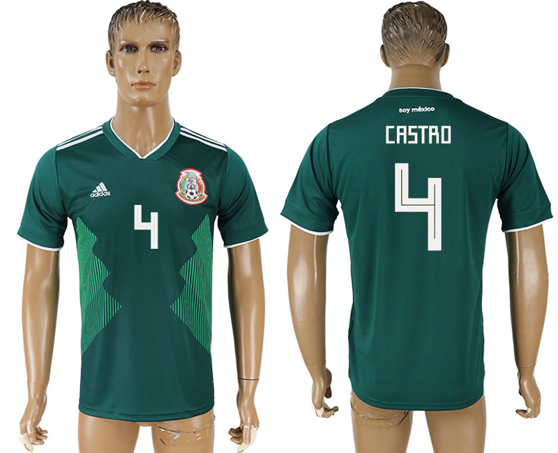 Men 2018 World Cup Mexico home aaa version 4 green soccer jersey1