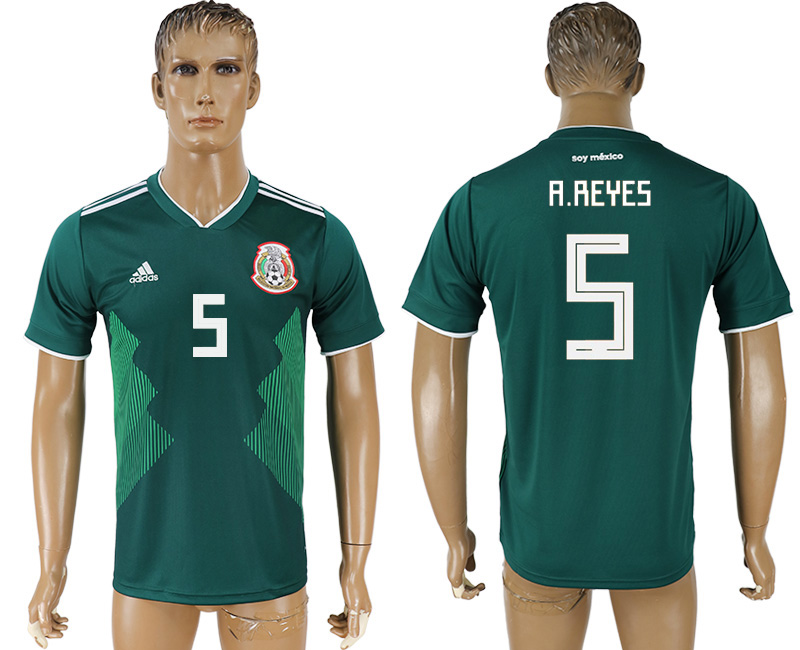 Men 2018 World Cup Mexico home aaa version 5 green soccer jersey