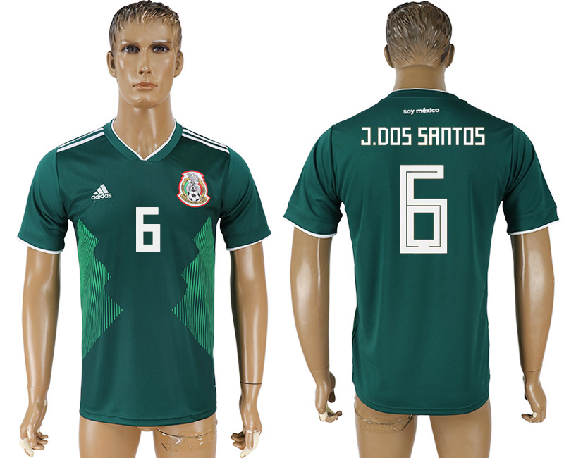 Men 2018 World Cup Mexico home aaa version 6 green soccer jersey