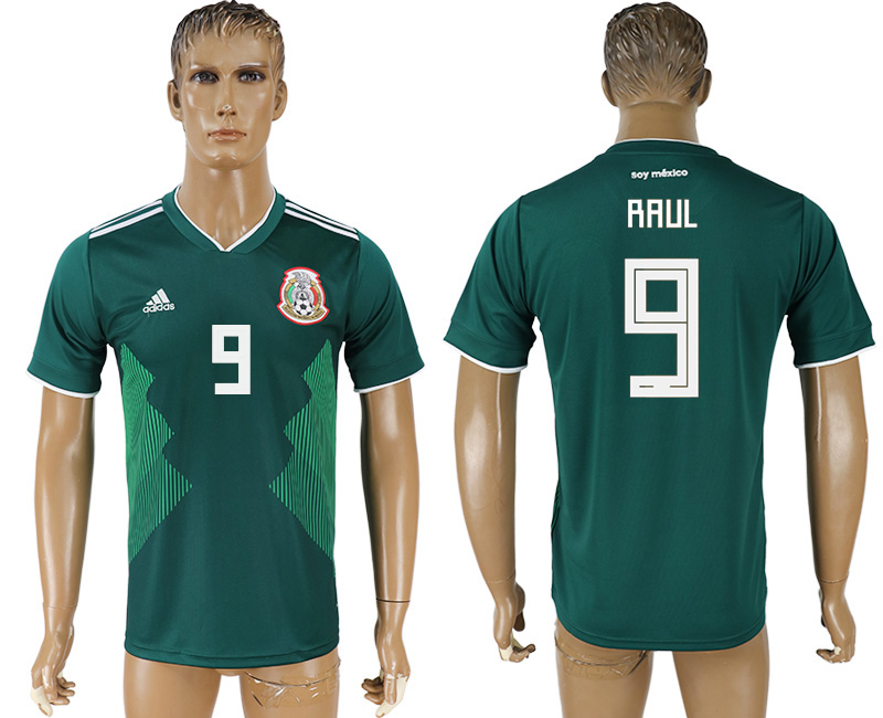 Men 2018 World Cup Mexico home aaa version 9 green soccer jersey