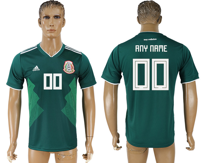 Men 2018 World Cup Mexico home aaa version customized green soccer jersey