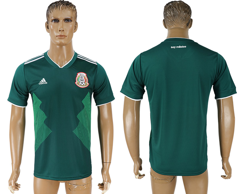 Men 2018 World Cup Mexico home aaa version green soccer jersey