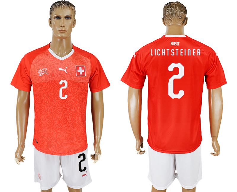 Men 2018 World Cup National Switzerland home 2 red soccer jersey