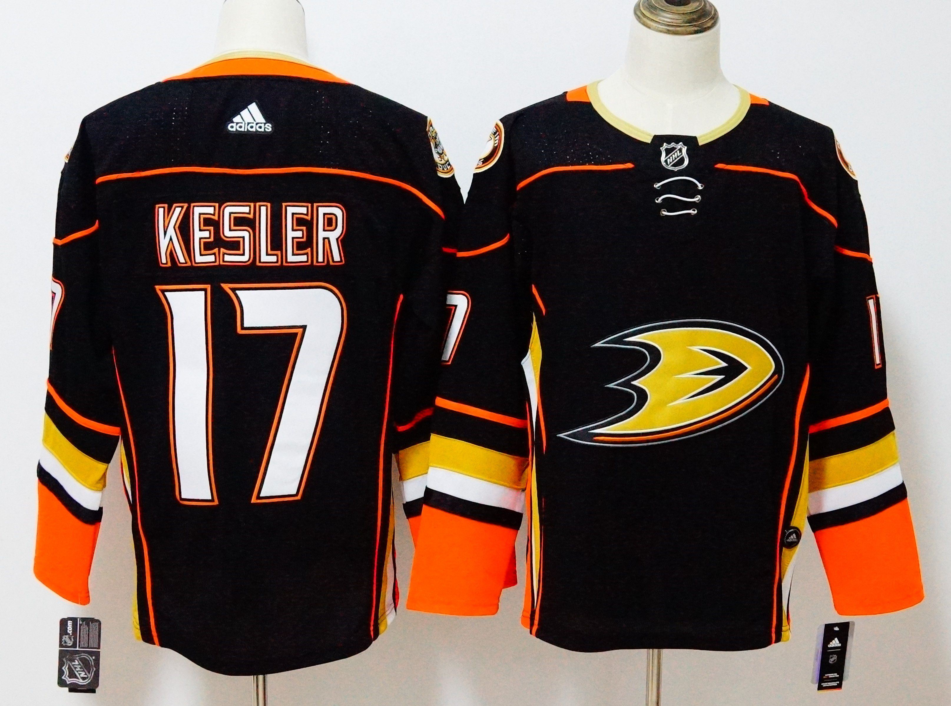 Men Anaheim Ducks 17 Kesler Black Hockey Stitched Adidas NHL Jerseys