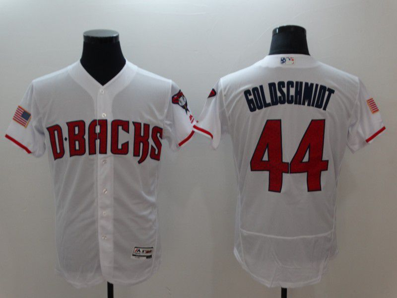 Men Arizona Diamondback 44 Goloschmidt White Elite MLB Jerseys