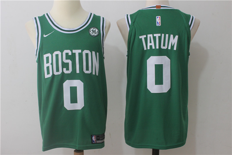 Men Boston Celtics 0 Tatum Green Game Nike NBA Jerseys