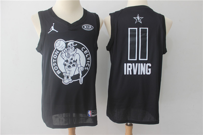 Men Boston Celtics 11 Irving Black 2108 All Stars NBA Jerseys