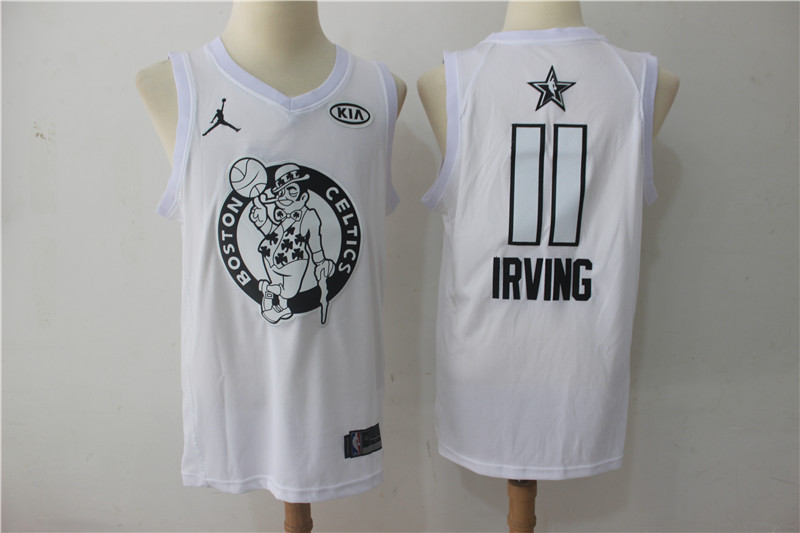 Men Boston Celtics 11 Irving White 2108 All Stars NBA Jerseys