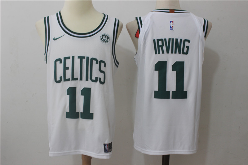 Men Boston Celtics 11 Irving White Game Nike NBA Jerseys
