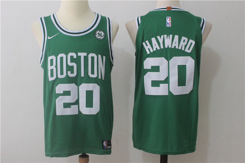 Men Boston Celtics 20 Hayward Green Game Nike NBA Jerseys