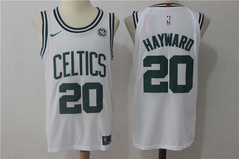 Men Boston Celtics 20 Hayward White Game Nike NBA Jerseys